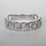 white gold diamond loop fashion ring