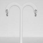 white gold diamond loop earrings