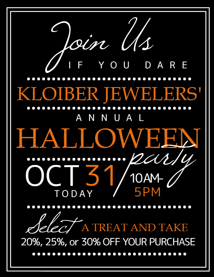 flyer for kloiber jewelers' halloween party