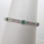 milgrain emerald and diamond band