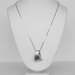 sterling silver white sapphire necklace