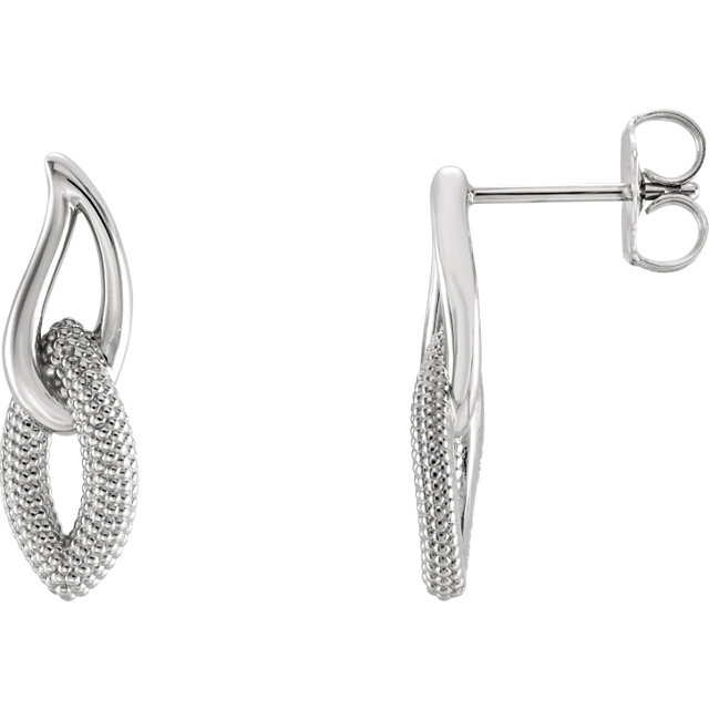 hypoallergenic platinum dangle earrings