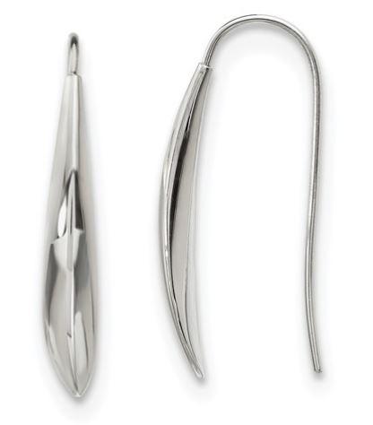 stainless steel shepherd hook earrings