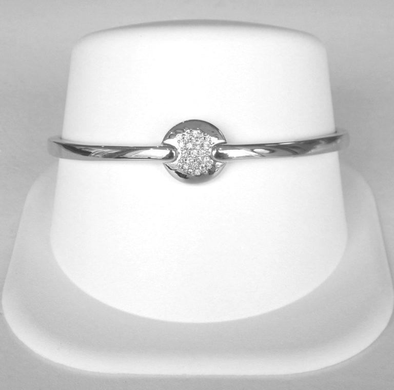 sterling silver white sapphire bangle