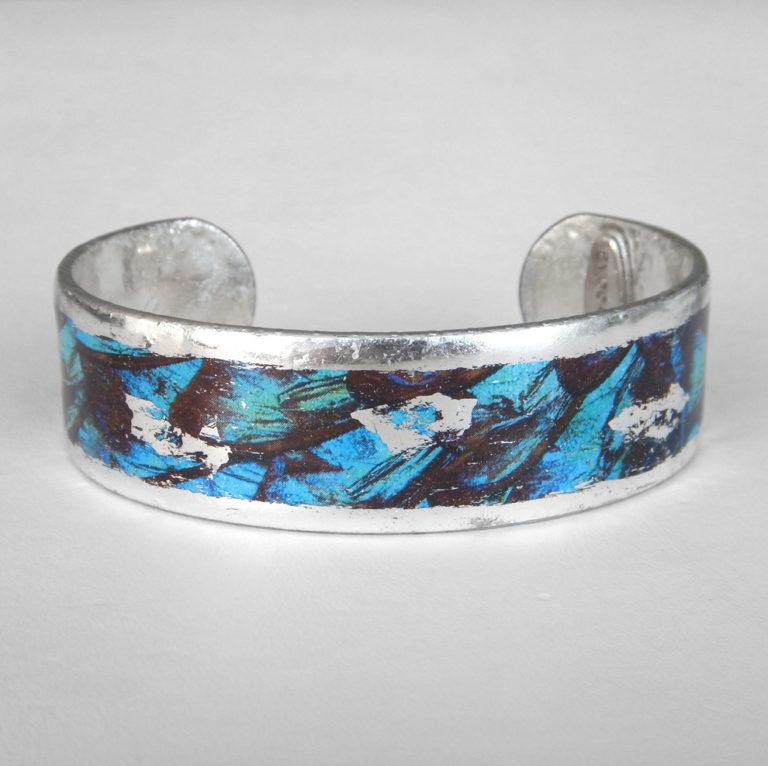 sterling silver blue cuff bracelet