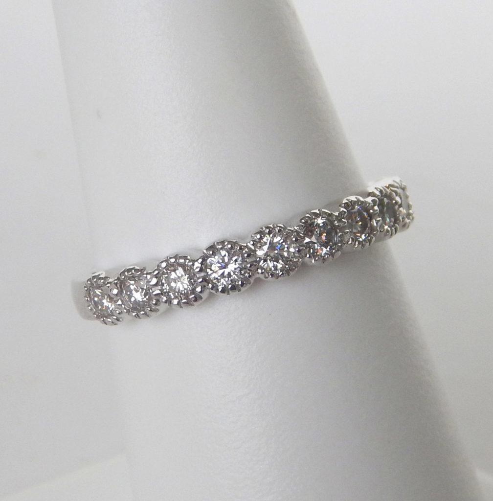 milgrain diamond band white gold
