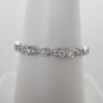 white gold milgrain edge diamond band