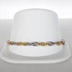 two tone gold link bracelet