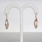 yellow gold dangle earrings