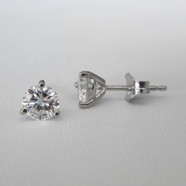 white gold martini set diamond studs