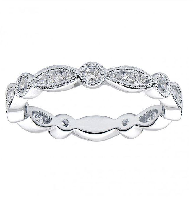 milgrain edge diamond band