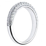 side view of diamond cluster ring