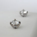 side view of martini set diamond studs
