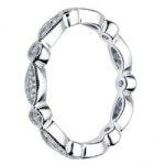 side view of milgrain edge diamond band
