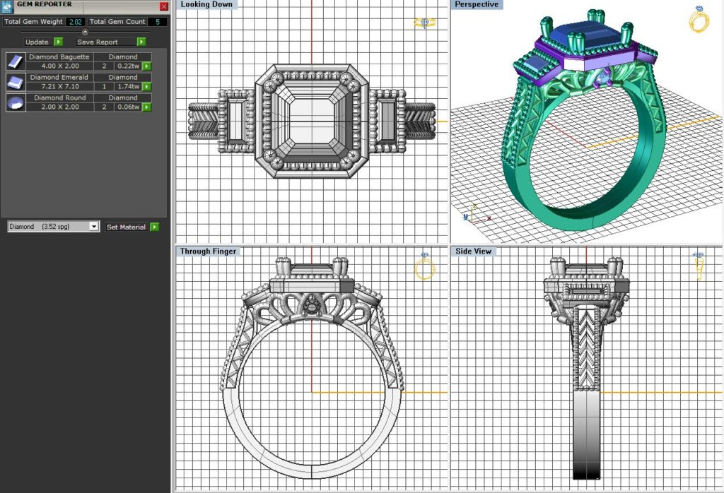 computer aided design of diamond engagement ring kloiber jewelers