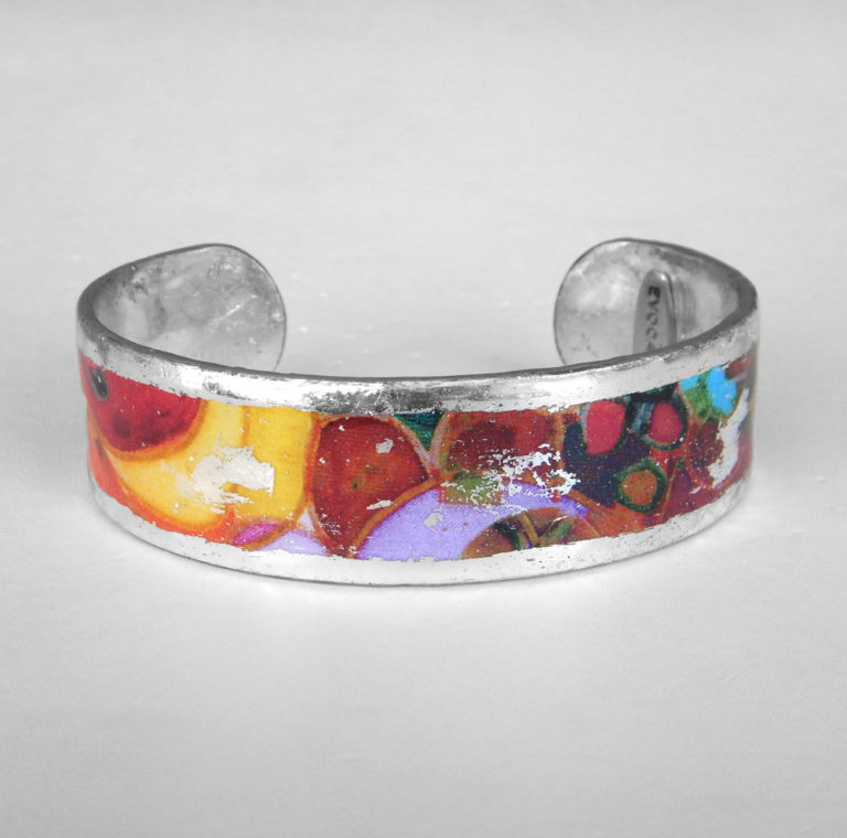 sterling silver colorful cuff bracelet