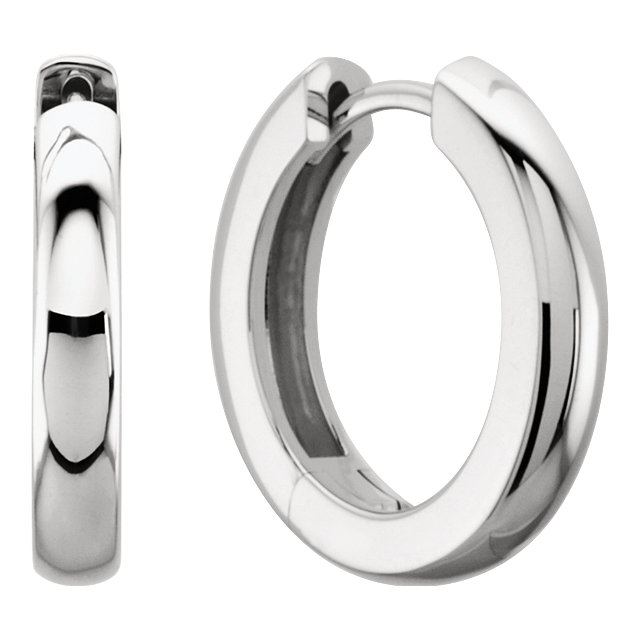 white gold hinged hoop earrings