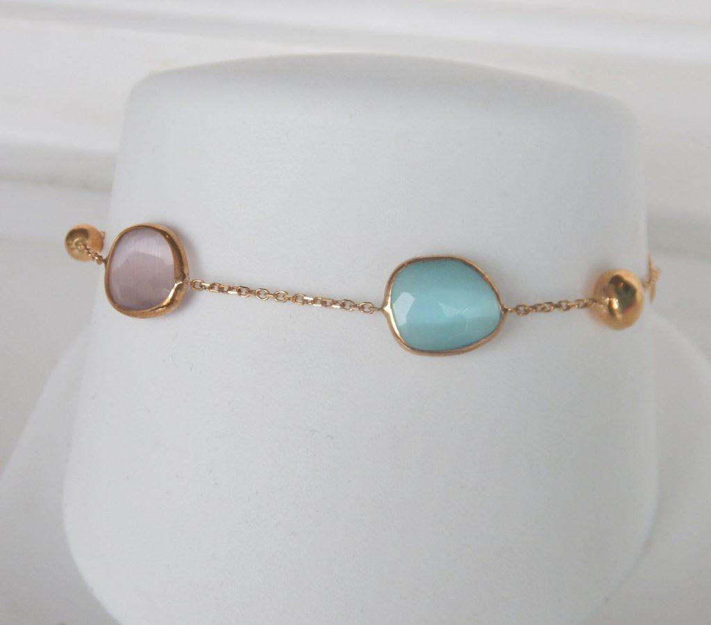yellow gold multi gemstone bracelet
