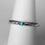 sterling silver lab created emerald stacking ring