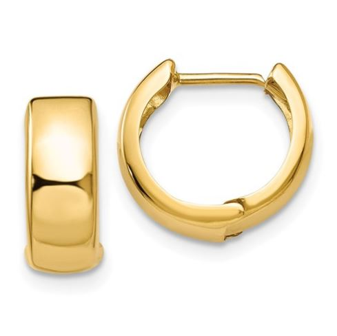 small, thick yellow gold earrings