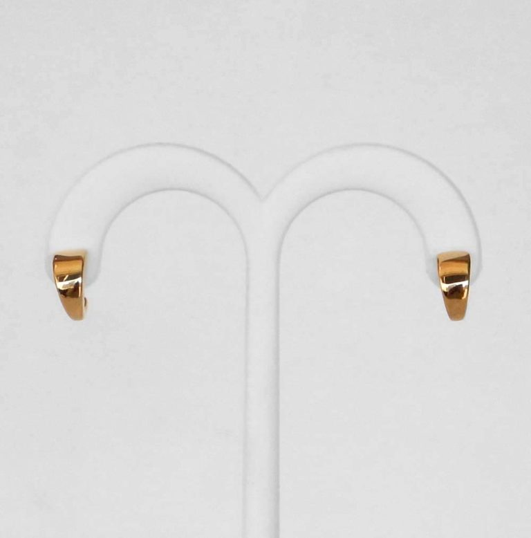 small yellow gold hoops