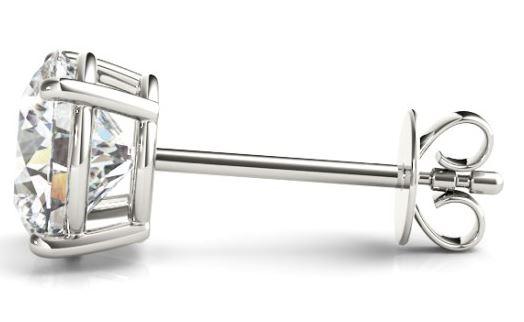 friction back diamond studs