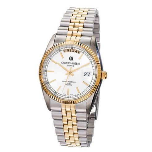 mens two tone stainless steel watch
