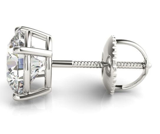 screw back diamond studs