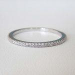 white gold thin diamond band