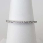white gold thin diamond band