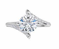 diamond bypass engagement ring