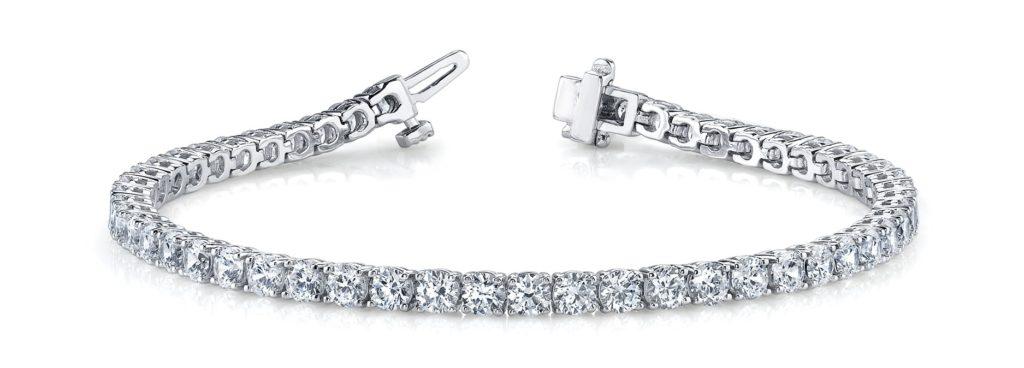 prong set diamond tennis bracelet