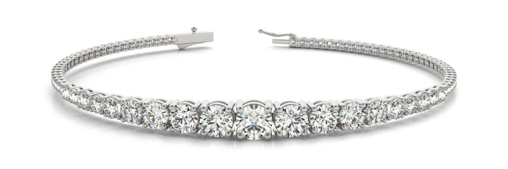 descending size diamond tennis bracelet