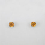 white gold citrine studs