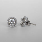 white gold diamond halo earring jackets