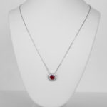 white gold ruby and diamond art deco necklace