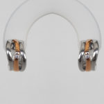 two tone diamond hoop earrings