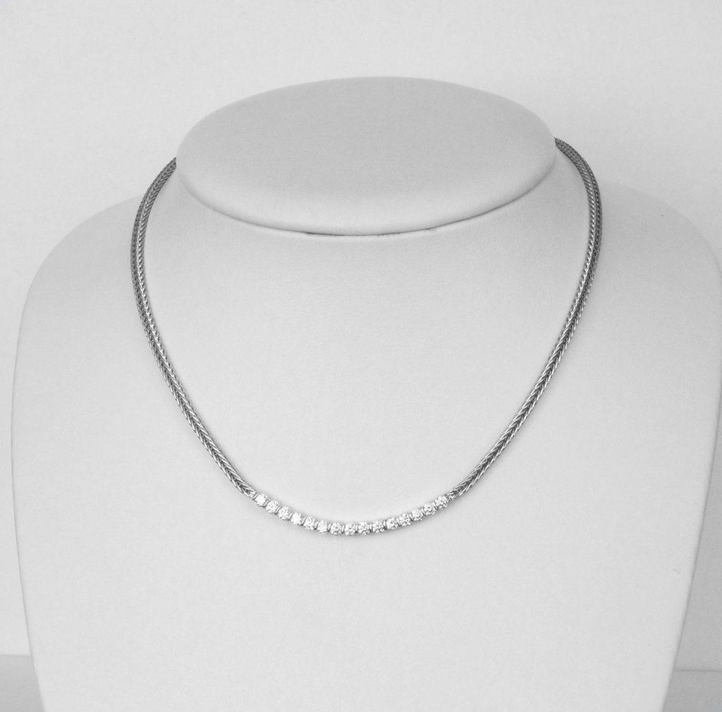 white gold diamond necklace