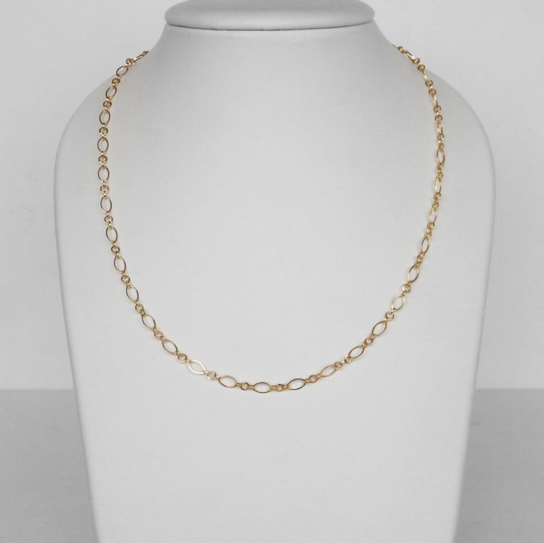 yellow gold fancy link necklace