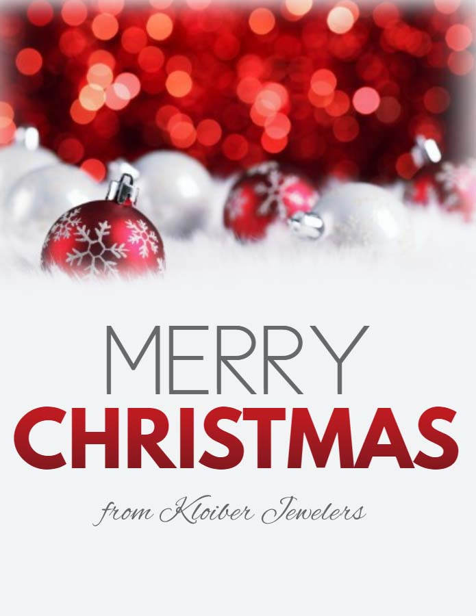 merry christmas from kloiber jewelers