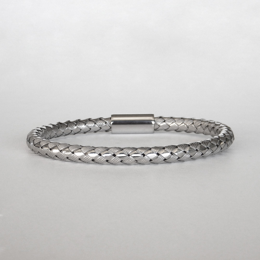 sterling silver braided bangle
