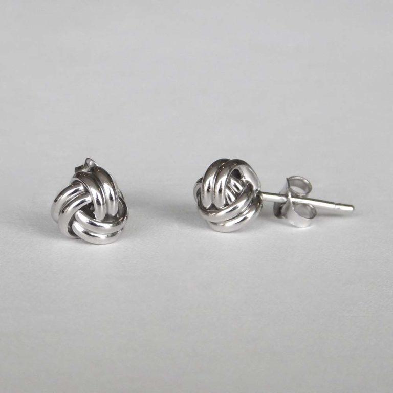 sterling silver knot earrings