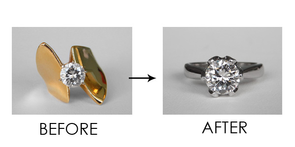 ring redesign before and after kloiber jewelers