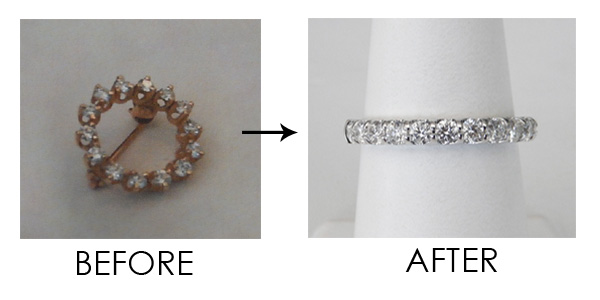 jewelry redesign before and after kloiber jewelers