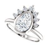 white gold pear shape diamond engagement ring