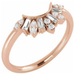 rose gold contoured diamond band