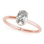 rose gold oval diamond solitaire engagement ring