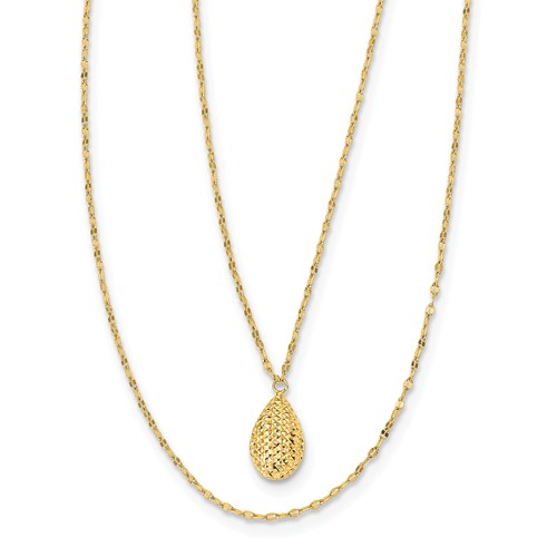 yellow gold layered necklace