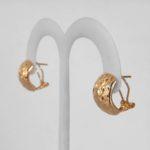 yellow gold omega back earrings