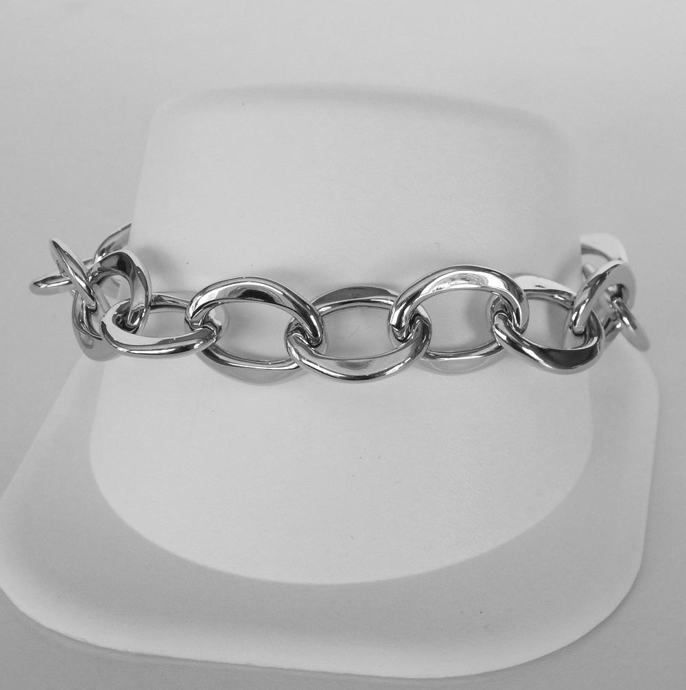 sterling sliver charm link bracelet